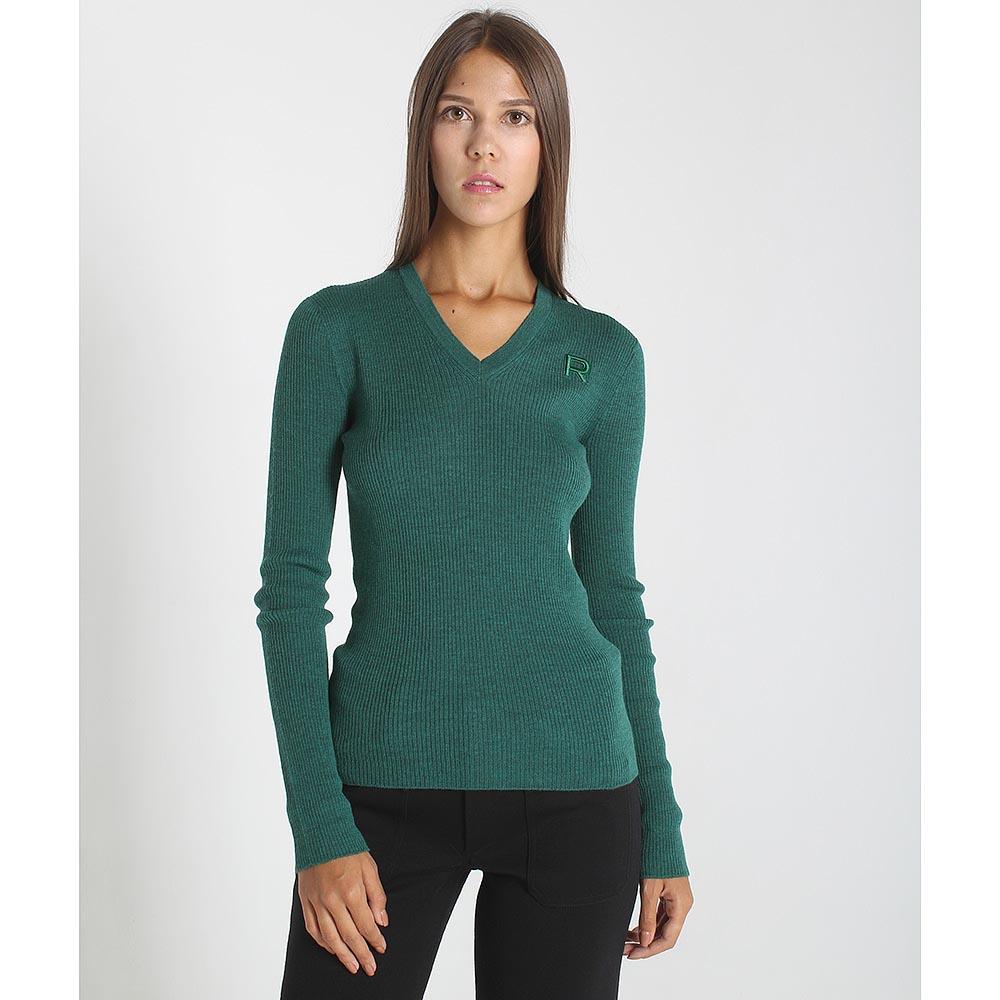 Шерстяной джемпер Rochas зеленого цвета