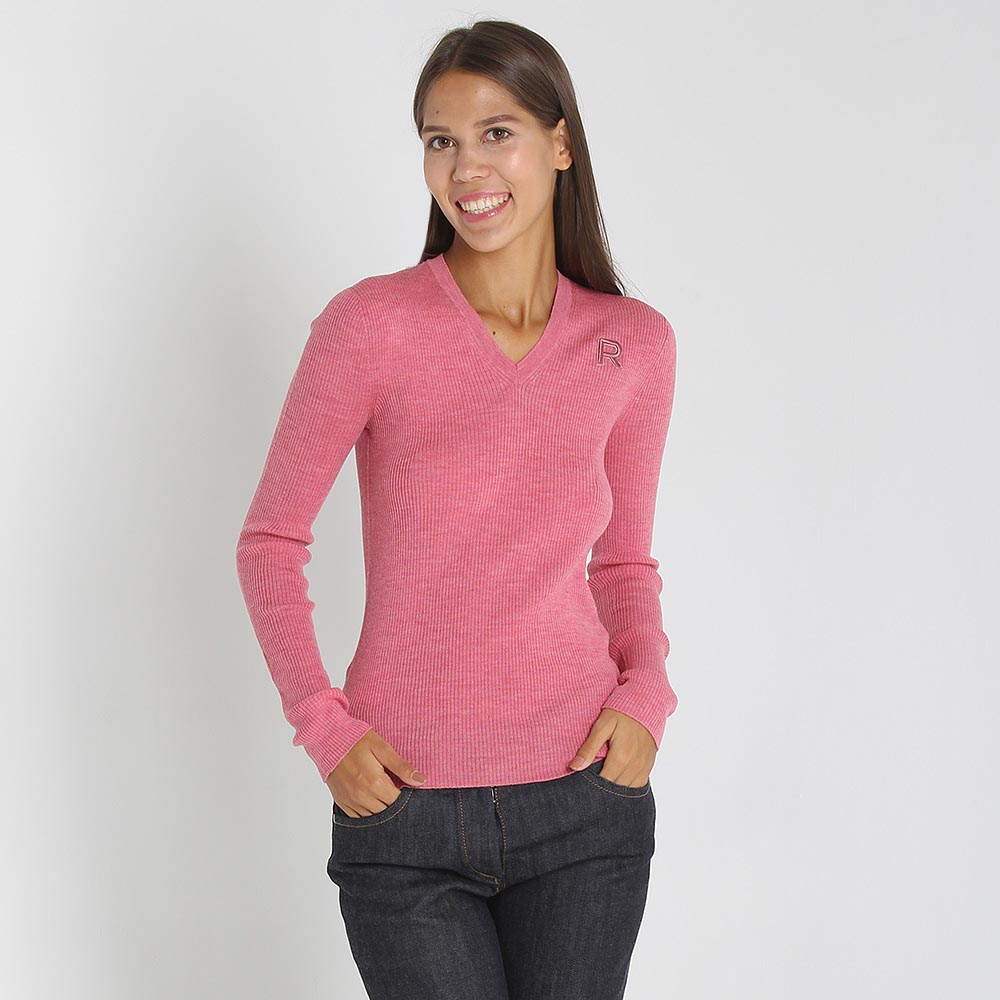 Шерстяной джемпер Rochas розового цвета