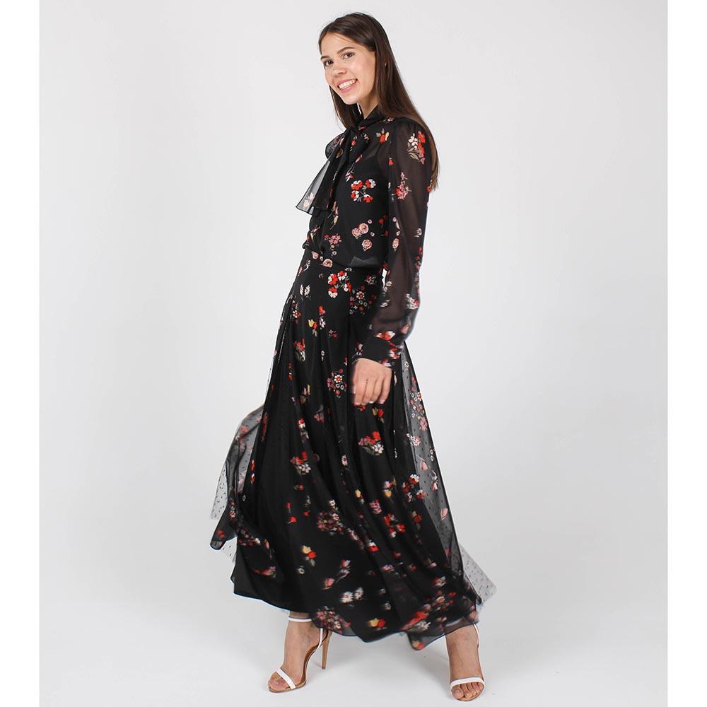 Юбка-клеш Red Valentino с цветочным принтом