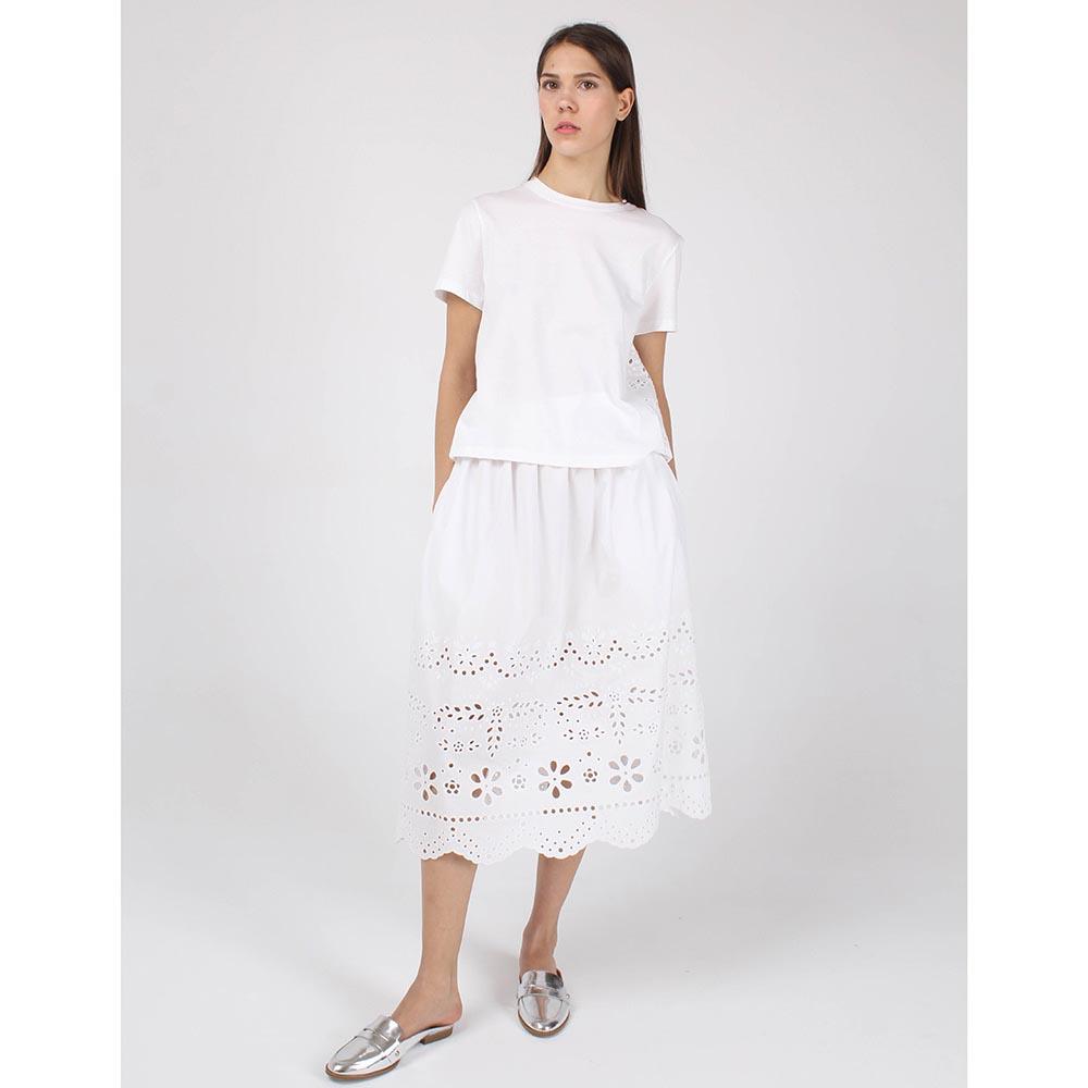 Белая батистовая юбка Red Valentino