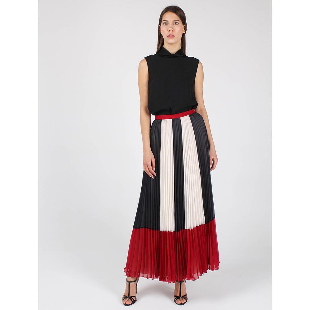 Длинная плиссированная юбка Red Valentino трехцветная