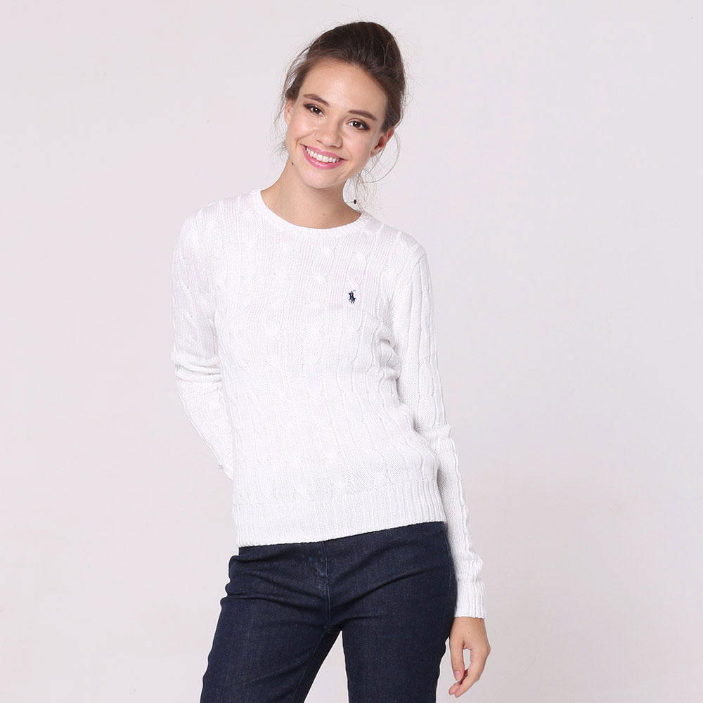 Белый джемпер Polo Ralph Lauren с вязкой