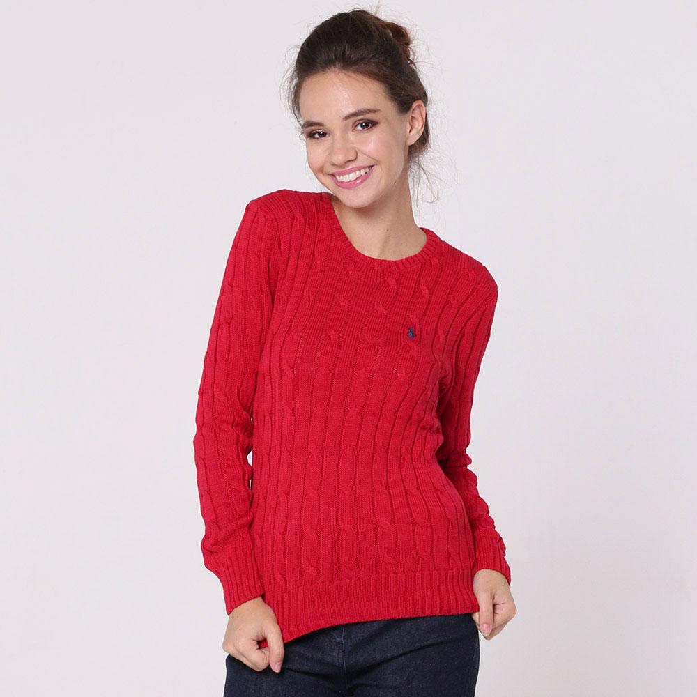 Джемпер Polo Ralph Lauren красного цвета с вязкой