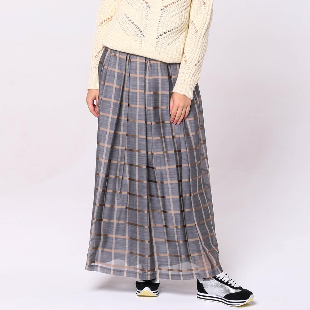 Клетчатая юбка Peserico с завышенной талией