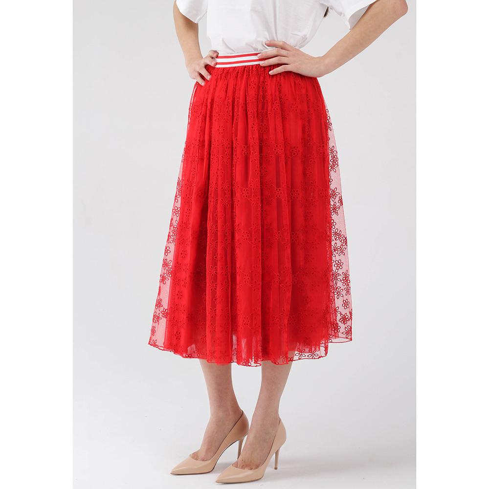 Пышная юбка Ermanno Ermanno Scervino красного цвета