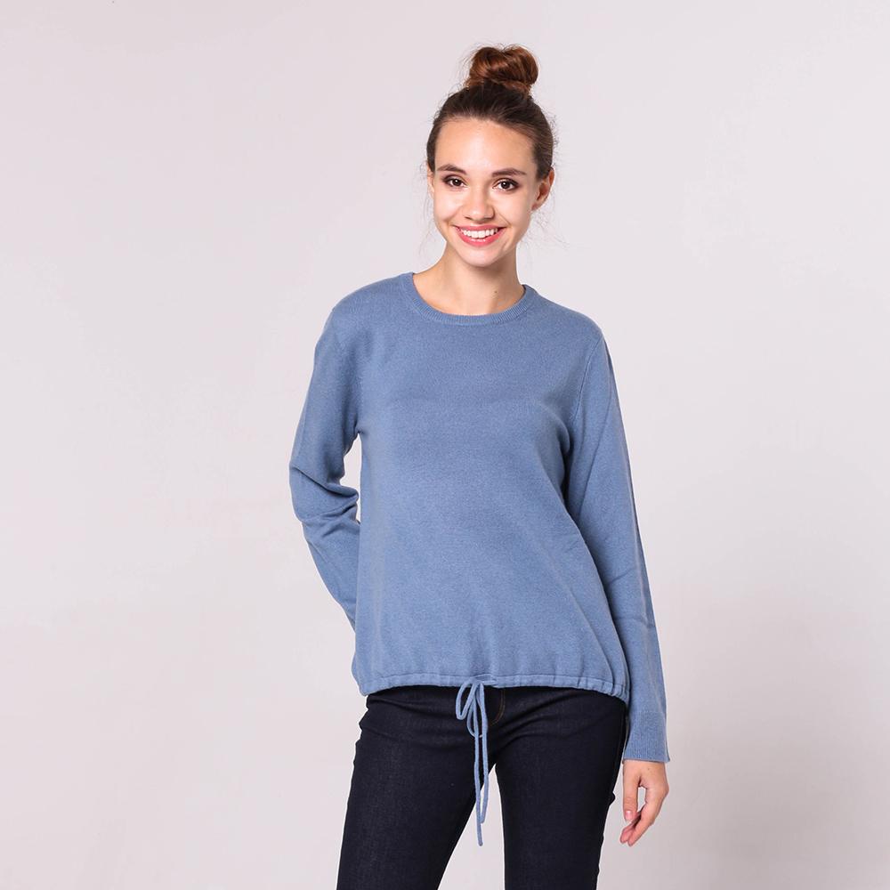 Синий свитер Emporio Armani с завязками