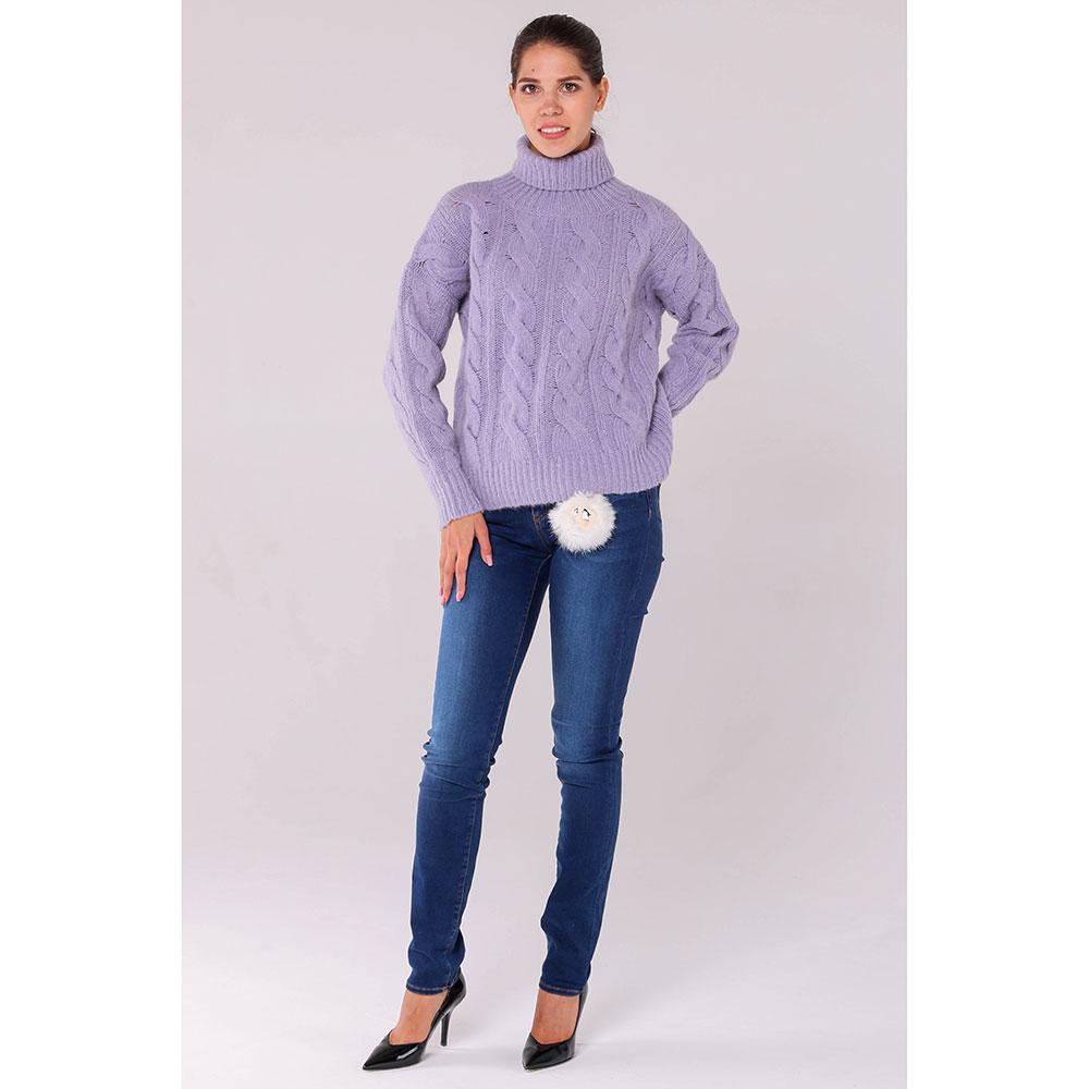 Вязаный свитер под горло Peserico фиолетового цвета