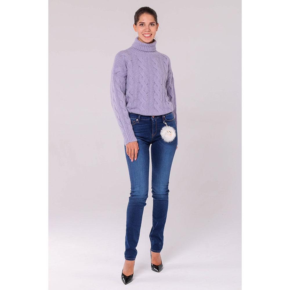 вязаный свитер под горло Peserico фиолетового цвета Demo Online Store