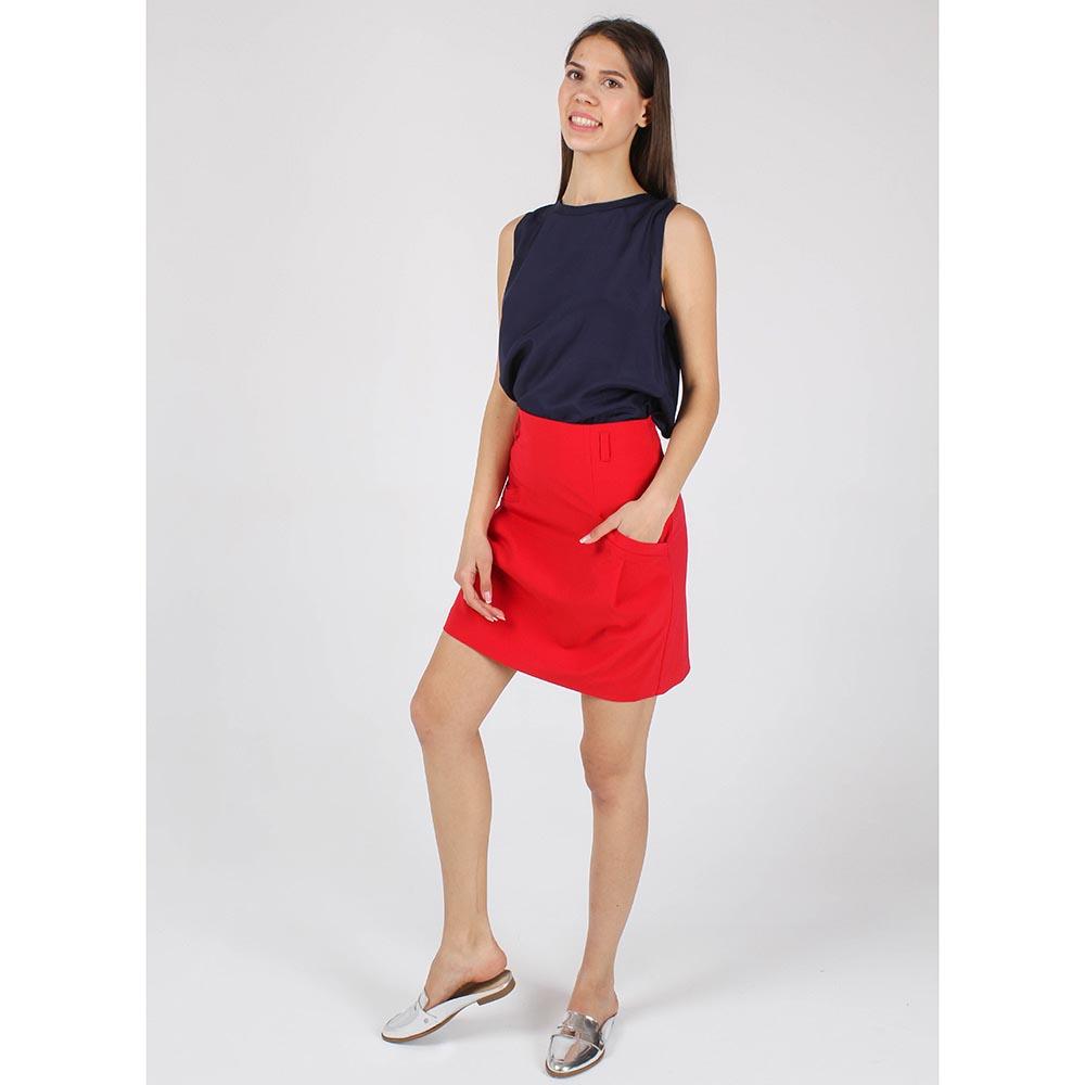 Юбка-трапеция Armani Jeans красного цвета