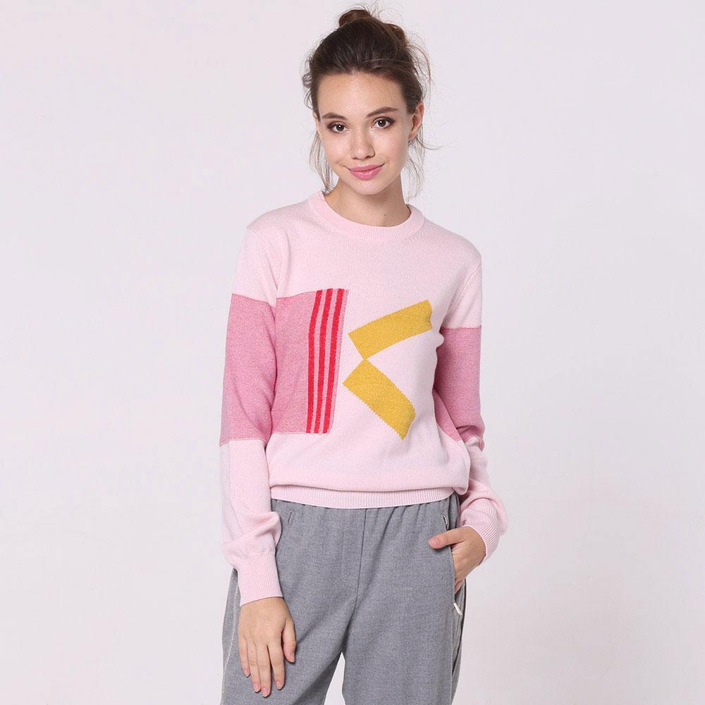 Джемпер Kenzo розового цвета с принтом