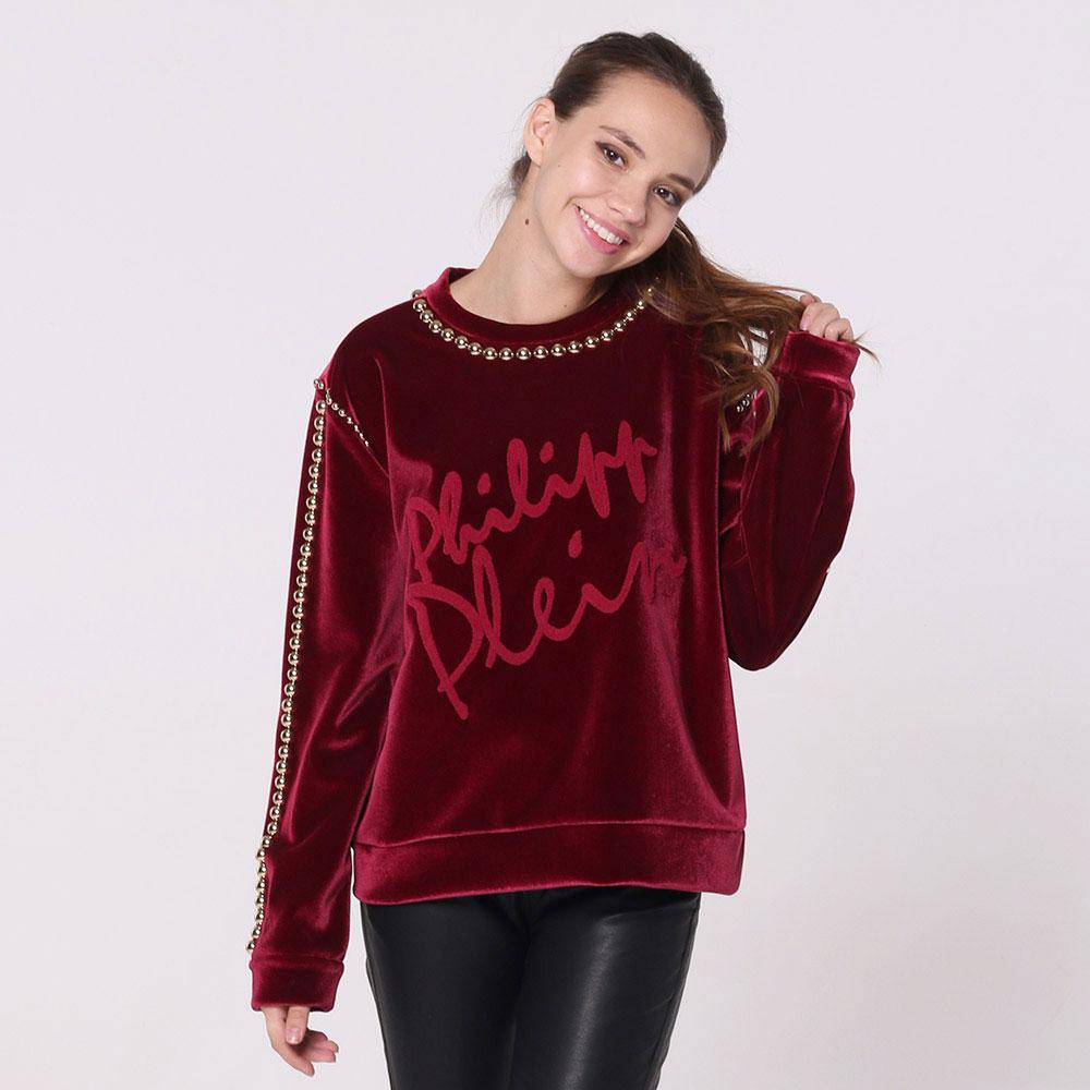 Красный свитер Philipp Plein с декором-бусинами