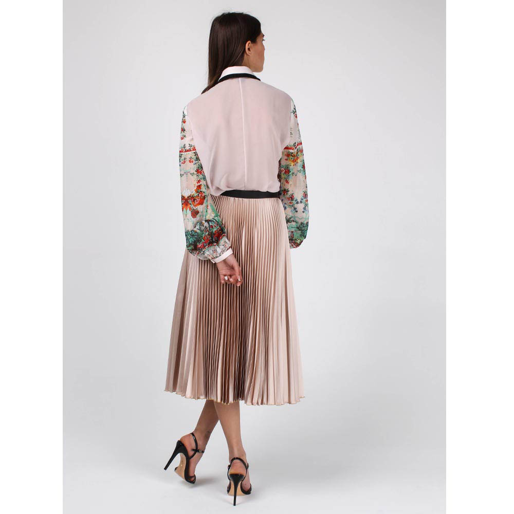Плиссированная юбка Cavalli Class бежевого цвета